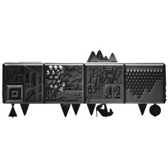 Pretty hard to trump a piece of furniture like this -- BD Barcelona Design Tout va Bien Cabinet Sideboard Design, Black Sideboard, Modern Sideboard, Credenza, Design Furniture, Cabinet Furniture, Luxury Furniture, Cool Furniture, Furniture Storage