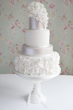 Love the subtle difference in color and the lovely ruffled texture!
