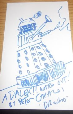 Dalek drawn by Peter Capaldi!