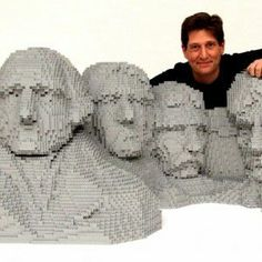 Mt. Rushmore Replica — Nathan Sawaya — The Art of the Brick