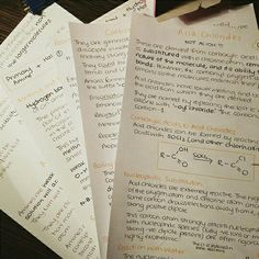 A few pages of my organic chemistry notes