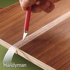 No more glue stains-- Use tape to catch excess glue