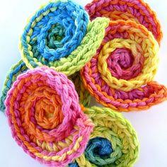 Crochet shell scrubbies by ketzl, via Flickr