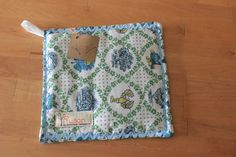 Vintage fabric potholder/hotpad featuring by Fruitionbyjennifield, $8.00