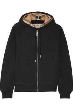 Burberry - Cotton-blend Jersey Hooded Top - Black - x large