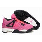 premium selection 02413 27ad7 Goedkoop Dames Nike Air Jordan 4 roze rood wit schoenen sale online
