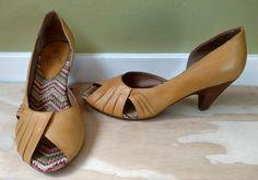 Crown Vintage Women's Carol Lynn Yellow Open Toe Pumps Heels Shoes Sz 7.5 | Clothing, Shoes & Accessories, Women's Shoes, Heels | eBay!