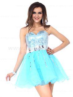 Sequined A line short/mini party dress blue sweetheart neckline E12048$119.99 #asapbay
