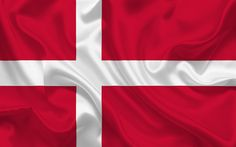 Download wallpapers Danish flag, Denmark, Europe, the flag of Denmark