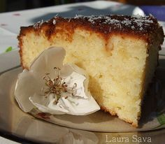Chec de lamaie cu iaurt Vanilla Cake, French Toast, Sweet Tooth, Cheesecake, Good Food, Favorite Recipes, Sweets, Baking, Mai
