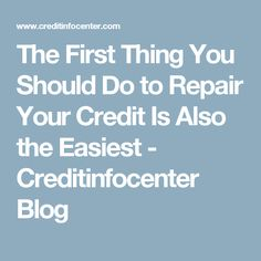 Though the credit repair process isn't hard, getting started can be. That's what makes the first step such a relief -- it's the easiest one. Fixing Credit Score, How To Fix Credit, Credit Check, Money Plan, Money Tips, Rebuilding Credit, Budget Organization, Budgeting Finances, Financial Literacy