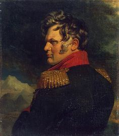 Painting of General Aleksey Petrovich Yermolov (1777-1861) Russia by George Dawe in The Military Gallery of the Winter Palace in St. Petersburg, Russia. The gallery holds the portraits of those who took part in the Patriotic War of 1812.