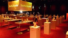 Credit Suisse Sports Award by www. Credit Suisse, Sports Awards, Event Design, Table Decorations, Projects, Home Decor, Log Projects, Blue Prints, Decoration Home