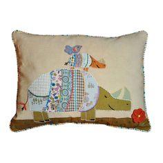 Cottage Home Rhino Decorative Throw Pillow (Baby Rhino Pillow), Multi, Size Specialty (Cotton, Animal)