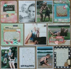 Adding Layers & Dimension to your Project Life Layouts | Week 1 2014 PL by Jodie King using Maggie Holmes Flea Market