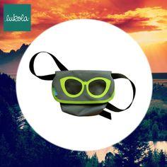 lukola handmade // Torebka na biodro z okularami // Waist bag with sun glasses
