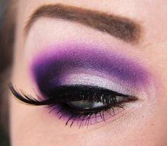 Cool purple darkened eye