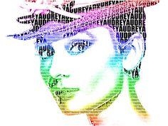 Audrey Hepburn Typography Portrait by thedanishcookie on DeviantArt