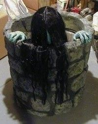Samara The Ring Haunted House Animated Halloween Prop Motorized Well Scary