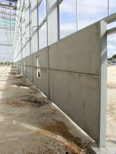 Architecture: concrete wall panels incredible faux wazillo media very popular within 0 from concrete wall Halle, Precast Concrete Panels, Exterior Wall Panels, Warehouse Design, Architecture Panel, Prefab Homes, Steel Structure, Construction, Patio