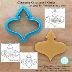 """3.5"""" x 3.5"""" Christmas Ornament 1 Cookie Cutter and by WhiskedAwayCutters"""