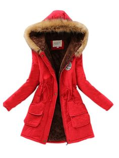 2018 New Parkas Female Women Winter Coat Thickening Cotton Winter Jacket Womens Outwear Parkas for Women Winter - fashion_pintradio Winter Jackets Women, Fall Jackets, Coats For Women, Red Parka, Mode Mantel, Vogue, Cotton Jacket, Ideias Fashion, Clothes