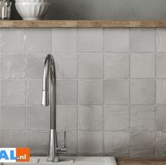 Equipe Mallorca grey-grijs, 10 x 10 cm Kitchen Tiles, Kitchen Decor, New Toilet, Scandinavian Style, Bed And Breakfast, Backsplash, Home Kitchens, New Homes, Interior Design