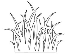 Grass pattern. Use the printable outline for crafts