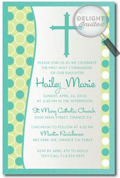 Retro Modern Baptism Invitations [DI-825] : Custom Invitations and Announcements for all Occasions, by Delight Invite, girl theme baptism christening invitations, christening ideas for girls, baptism invites, professionally printed, 2 piece hand mounted on metallic sparkly card stock, hand made baptism christening invitations for girls