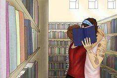 """""""In the back of the room, where nobody looks, he meets with his boyfriend. He's not reading books."""" ~ this is adorable Larry Stylinson, Rose And Dagger, One Direction Fan Art, Larry Shippers, Louis And Harry, Louis Tomlinson, Liam Payne, Fangirl, Boyfriend"""