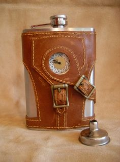 Personalized Made to Order Steampunk Flask with by FeliciaBleuRose, $85.00