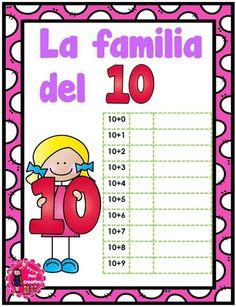 Decimos que dos o más números, con el mismo número de dígitos, son miembros de la misma familia, cuando dos de dichos números tienen al menos un dígito común. Por … Decimal, Kids And Parenting, Worksheets, Education, School, Cartoon, Inspired, Tens And Units, Math Lessons