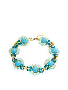 Robin Egg Blue Sphere Link Station Bracelet