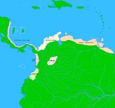 Mapa de la llamada Castilla del Oro o Tierra Firme