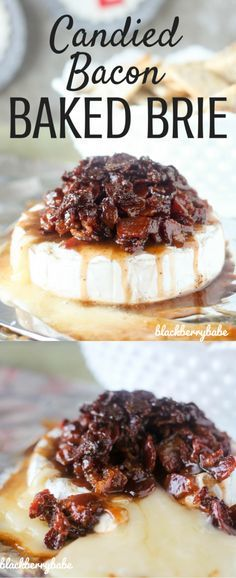 CANDIED BACON with gooey BAKED BRIE! The best appetizer on the planet! Serve with crackers or mini toasts!