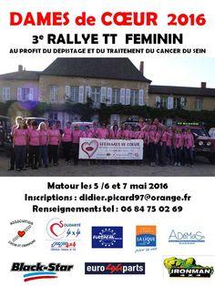 Rallye des dames de coeur les 5-6-7 mai 2016 à Matour : http://clun.yt/1Up42i4