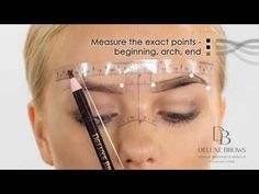Deluxe Brows® Microblading Tutorial Sticky Ruler - YouTube