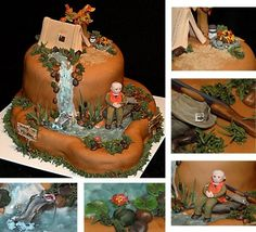 Camping Hunting Fishing Birthday Cake By CakeInfatuation on CakeCentral.com