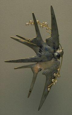 graceful swallows Ювелирное искусство модерна. Lucien Gaillard & Rene Lalique. Обсуждение на LiveInternet - Российский Сервис Онлайн-Дневников
