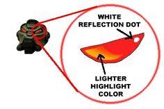 From the Warp: Painting Space Marine helmet lenses.