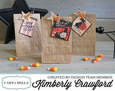 embossed Halloween treat bags - Scrapbook.com