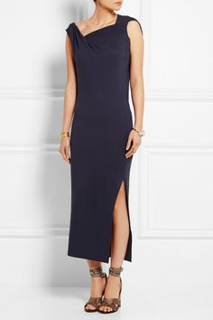 Shop for Country Draped Stretch-Jersey Dress by Vivienne Westwood at ShopStyle. Vivienne Westwood Anglomania, Up Hairstyles, Stretches, Your Hair, Slip On, Fashion 2015, How To Wear, Country, Shopping