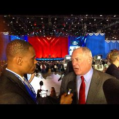 #DePaul journalism student Dakarai Turner interviews Governor Pat Quinn while covering the 2012 presidential election at McCormick Place.