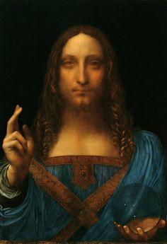 Salvator Mundi, attributed to Leonardo Da Vinci