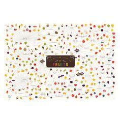 Un análisis exhaustivo de deliciosas frutas culinarias, ilustradas y documentadas más de 300 deliciosas frutas. El póster viene en un tubo plástico<br>Material: Litografía con tinta vegetal<br>Dimensiones: 99 X 69 cm<br>Marca:Pop Chart Lab