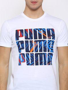 5c093d65e Buy Puma Men White X3 Printed T Shirt - Tshirts for Men
