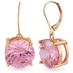 Betsey Johnson  Crystal Drop Earring (160 RON) ❤ liked on Polyvore featuring jewelry, earrings, pink, rose jewellery, rose jewelry, pink earrings, earring jewelry and betsey johnson earrings