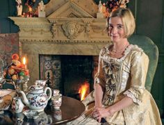 Just a typical afternoon Tea Break for the Delightful Dr Lucy Worsley.