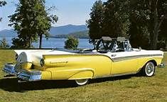 1957 Ford Fairlane Sunliner - this car, in red = my dream