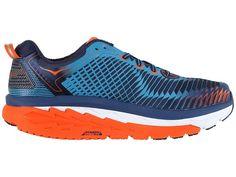 Hoka One One Arahi Men's Running Shoes Medieval Blue/Red Orange